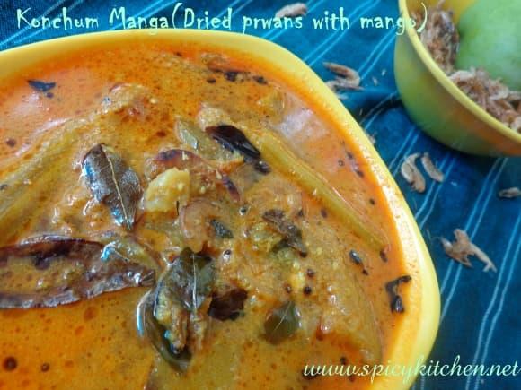 Dried prawns curry