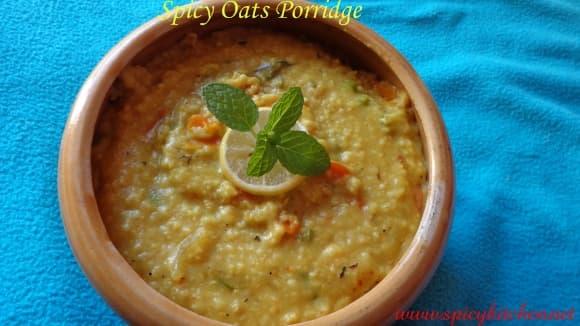 Spicy oats porridge