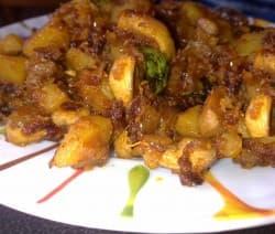 Aloo Mushroom Roast
