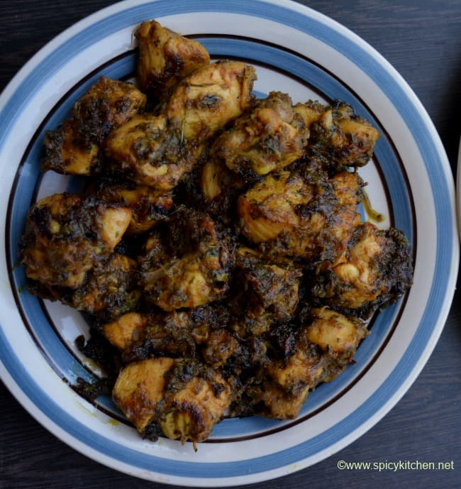chicken-fry-with-leaves