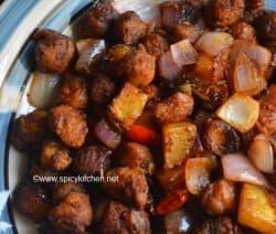 soya aloo manchurian recipe