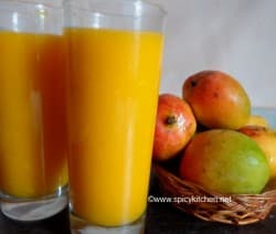 mango juice recipe