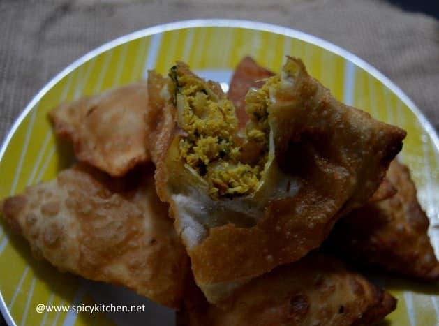 how to make chicken samosa